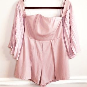 Vestique Blush Pink Romper with Bell Sleeves